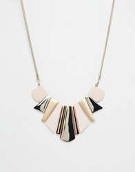 Oasis Geo Soft Touch Collar Necklace Gold