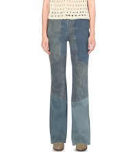Free People Allissa Flared High Rise Jeans Denim Blue
