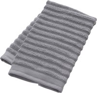 Cb2 Channel Grey Cotton Hand Towel