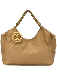 Chanel Vintage Slouchy Tote Metallic