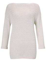 John Lewis Capsule Collection Boat Neck Jumper White