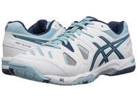 Asics Gel Game 5 White Blue Steel Crystal Blue Women's Tennis Shoes