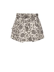 Zimmermann Empire Apron Linen Mini Skirt