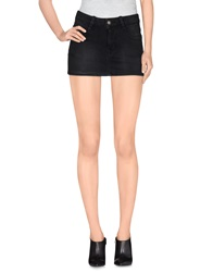 Fornarina Denim Skirts Black