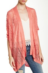 14Th And Union Pointelle Easy Cardigan Pink