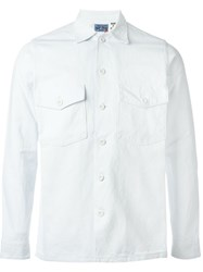 Blue Blue Japan Front Pockets Shirt White