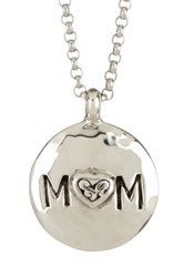 Lois Hill Sterling Silver Reversible Signature Cutout Mom Pendant Necklace Metallic