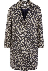 Iris And Ink Tallulah Leopard Jacquard Coat