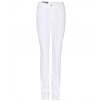 7 For All Mankind High Waist Straight Leg Jeans White Nile