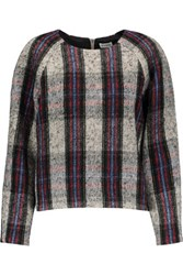 Suno Checked Wool Blend Sweater Multi
