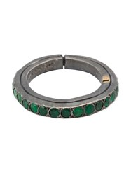 Rosa Maria 'Ester' Band Ring Green