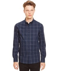 Kenneth Cole Reaction Plaid Long Sleeve Shirt