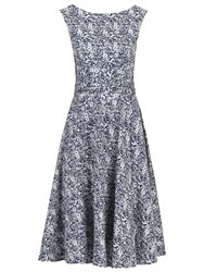 Jolie Moi Floral Wrap Skater Dress Navy