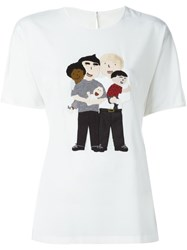 Dolce And Gabbana Family Patch T Shirt White