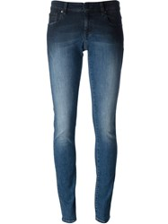 Vivienne Westwood Anglomania Washed Effect Skinny Jeans Blue