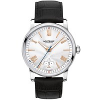 Montblanc 114841 Men's 4810 Automatic Date Alligator Leather Strap Watch Black Silver