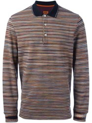 Missoni Striped Polo Shirt Multicolour