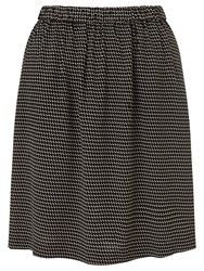 Bzr Ambre Printed Crepe Skirt Black