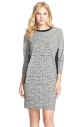 Kut From The Kloth Boucle Shift Dress Black White
