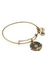 Alex And Ani Expandable Anchor Charm Bangle Rafaelian Gold