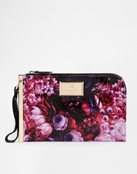 Lipsy Floral Clutch Bag Multi