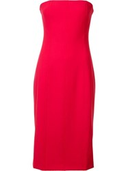 Elizabeth And James Piping Detail Strapless Dress Red
