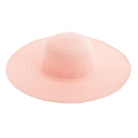 J.Crew Summer Straw Hat Sunwashed Pink