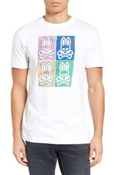 Psycho Bunny Men's Andy Graphic T Shirt White