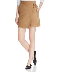 Vince Suede Wrap Skirt Taupe