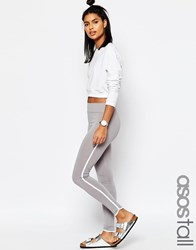 Asos Tall Leggings With Contrast Binding Black White