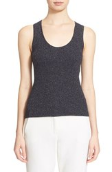 Women's Max Mara 'Umbro' Metallic Knit Tank