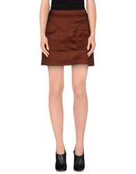 Space Style Concept Mini Skirts Brick Red