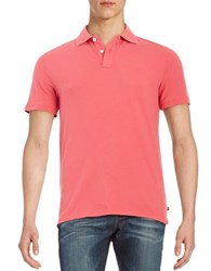 Black Brown Solid Cotton Polo Shirt Cadillac Pink