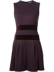 Alexander Mcqueen A Line Mini Dress Pink And Purple