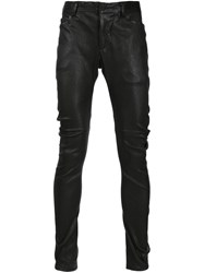 Julius Leather Trousers Black