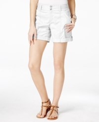 Inc International Concepts Cuffed Twill Shorts Only At Macy's Bright White