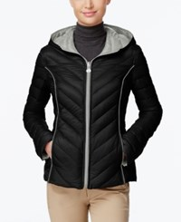 Nautica Reversible Hooded Packable Puffer Coat Only At Macy's Black Palladium