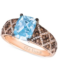 Le Vian Aquamarine 1 1 2 Ct. T.W. And Diamond 5 8 Ct. T.W. Ring In 14K Rose Gold