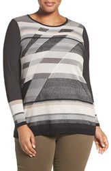 Nic Zoe Plus Size Women's Spellbound Knit Top