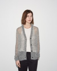 Alexander Wang Mohair Cardigan Heather Grey