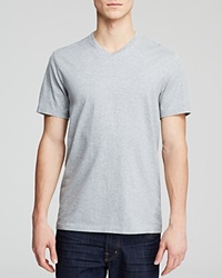 The Men's Store At Bloomingdale's Pima Cotton V Neck Tee Heather Grey