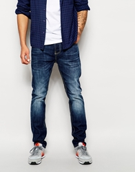 Bellfield Mid Wash Blue Jeans In Tapered Fit Midblue