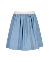 George J. Love Knee Length Skirts Blue
