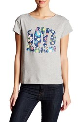 Love Moschino Groovy Print Graphic Tee Gray