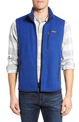 Patagonia Men's 'Better Sweater' Zip Front Vest Harvest Moon Blue