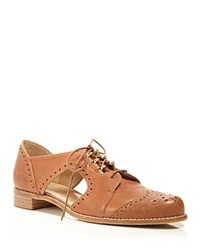 Stuart Weitzman Cutout Oxford Flats Brogue