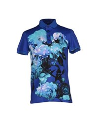 Dirk Bikkembergs Topwear Polo Shirts Men Blue
