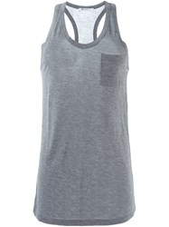 T By Alexander Wang Chest Pocket Tank Top Grey