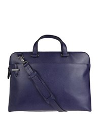 Lodis Jamie Leather Briefcase Midnight Blue