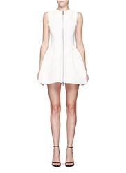 Maticevski 'Mixtec' Textured Flare Cocktail Dress White